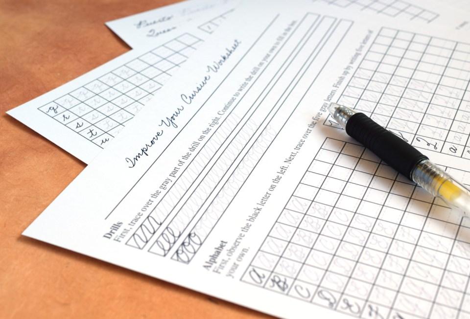 Прописи для каллиграфического почерка