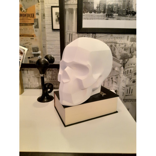 Гипсовый череп, белый