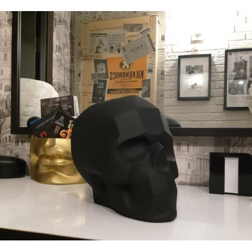 Гипсовый череп, черный