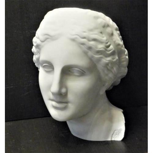 Голова Афродиты гипсовая, белая