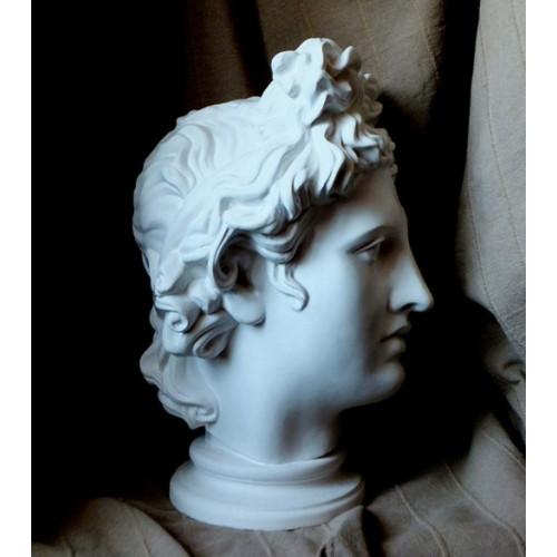 Голова Аполлона гипсовая