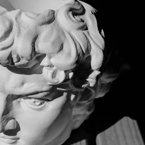 Кашпо голова Давида, белая