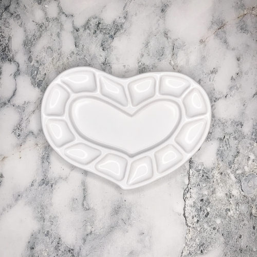 Керамическая палитра «Сердце»
