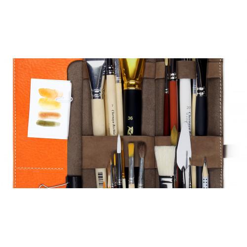Пенал для кистей художника Artskill Brush Pro, коричневый