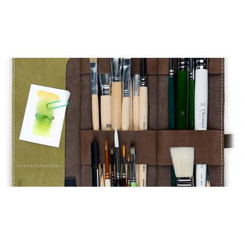 Пенал для кистей художника Artskill Brush Pro, зеленый