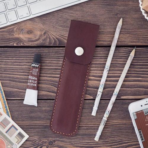 Чехол для ручки, шоколадный