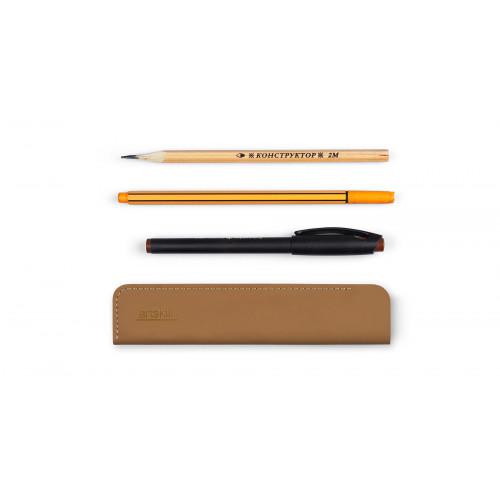 Пенал кожаный для ручек, Artskill коричневый