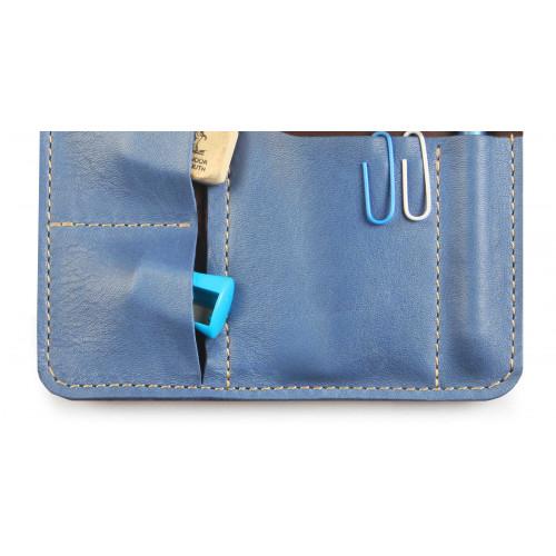 Пенал кожаный, голубой Artskill Mini