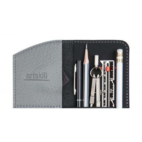 Пенал кожаный, серый Artskill Mini
