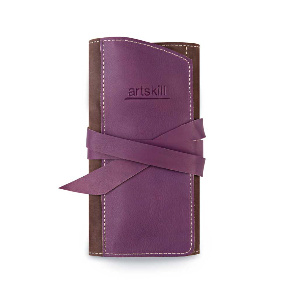 Пенал кожаный, фиолетовый Artskill Pro