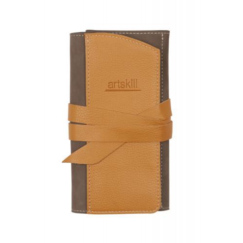 Пенал кожаный, коричневый Artskill Pro