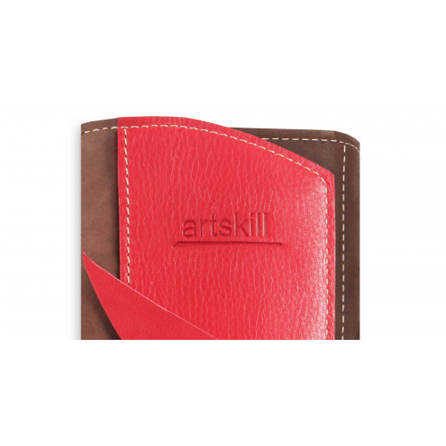 Пенал кожаный, красный Artskill Pro