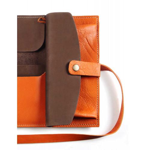 Пенал кожаный, оранжевый Artskill Pro
