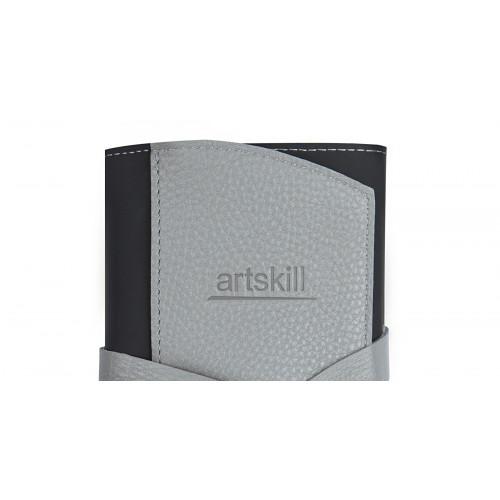 Пенал кожаный, серый Artskill Pro