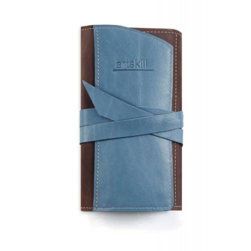 Пенал кожаный, синий Artskill Pro