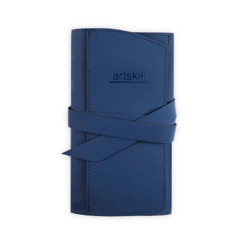 Пенал кожаный, темно-синий Artskill Pro