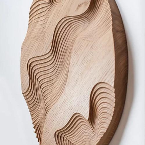 Декор из дерева Wave Wall 40